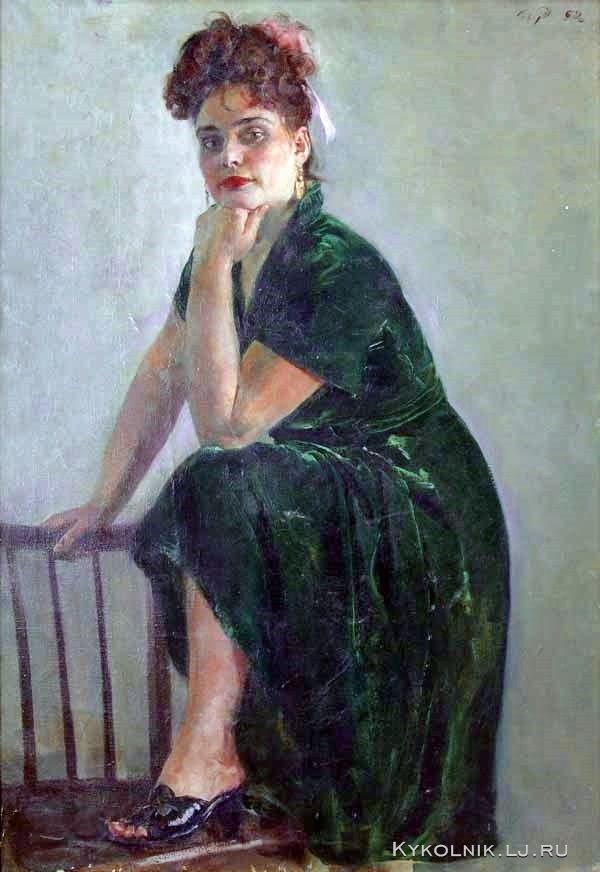 Радоман Игорь Владимирович (Россия, 1921-1992) «Розита в зелёном бархате» 1952