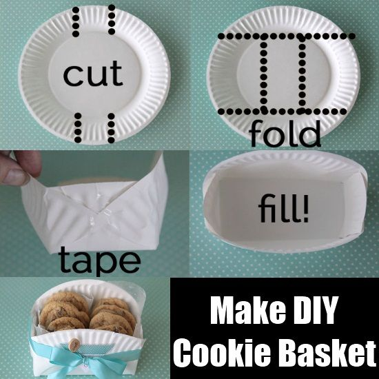 paperplate DIY cookie basket - Google Search