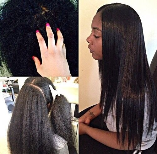 Natural Hair B Weave