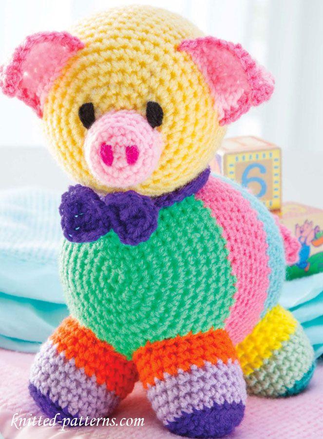212 besten Crochet - Pigs Bilder auf Pinterest | Schwein häkeln ...