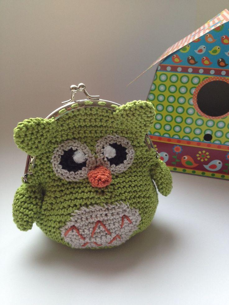 Sweet Owl wallet Crochet from 100% cotton yarn. @Katarzyna C C C C C C C C Szczytowska.nl