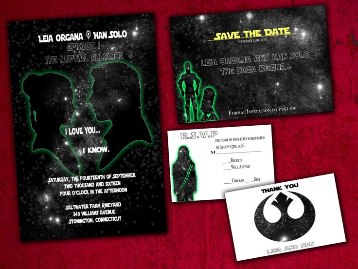 Charming Star Wars Wedding Invitations To Create Your Own Alluring Wedding Invitation 288201618 - 52713
