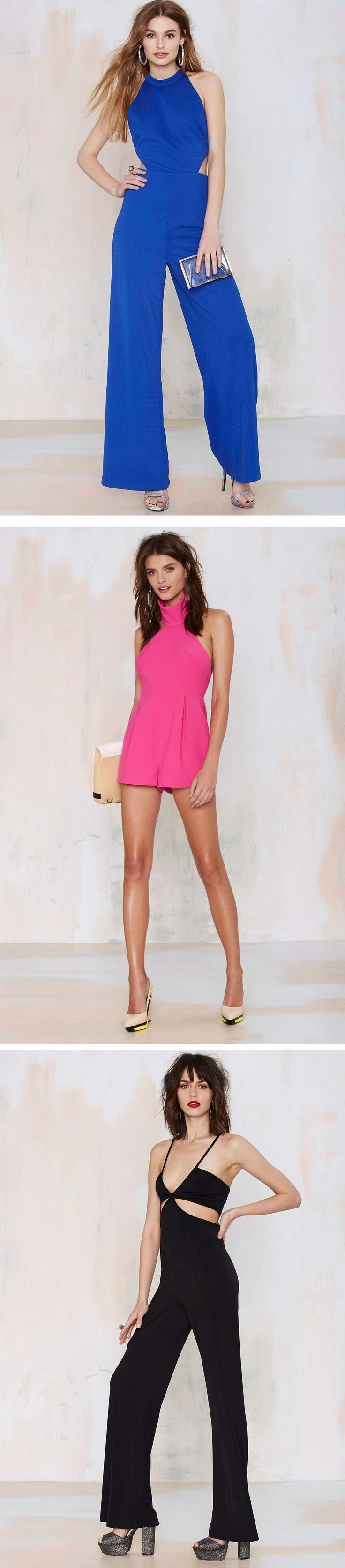 Show off your good side(s) in side cutout and backless jumpsuits and rompers - just in @NastyGal