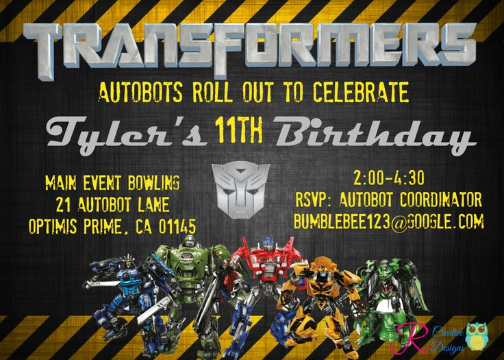 #Transformers #Inspired Party #Invitation, View more on the LINK: http://www.zeppy.io/product/gb/3/214162250/