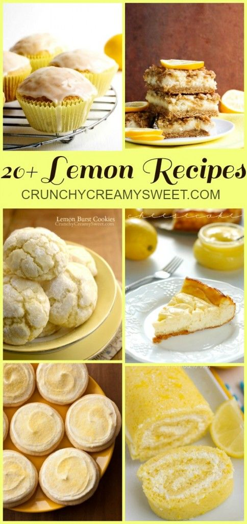 20 Fantastic Lemon Recipes #lemon @crunchycreamysw