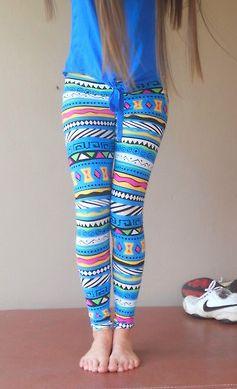 Colorful Pattern Combination Leggings