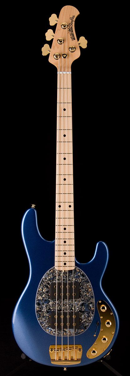 Oh god, if only it was purple. I need this bass.   MUSIC MAN StingRay HH 4 String w/ Matching Headstock Trans Gold | Guitar Center