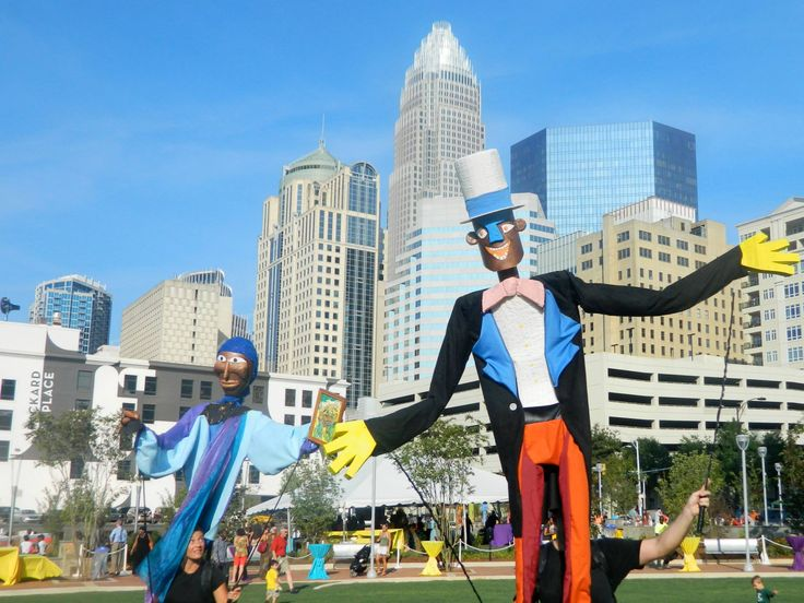 Have you been to the new Romare Bearden park in uptown Charlotte? This photo is from its grand opening. #publicspaces