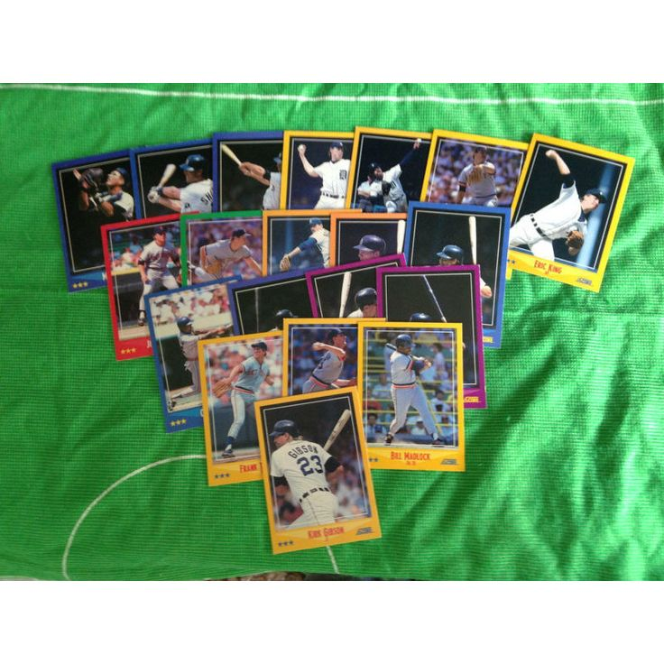 MLB Baseball Trading Cards x 20 Score 1990 Set Detroit Tigers