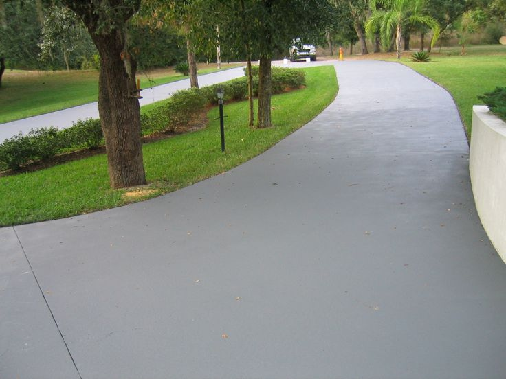 Epoxy seal concrete garage floor paint driveways for Cement driveway ideas