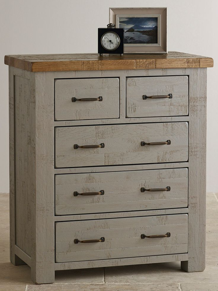 Clermont Painted Rough Sawn Solid Oak 2+3 Chest of Drawers £255