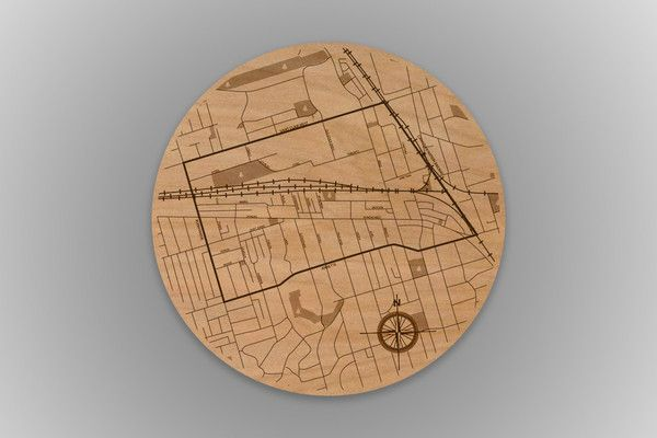 TORONTO URBANWOOD - THE JUNCTION - LASER WOOD MAP POSTERS