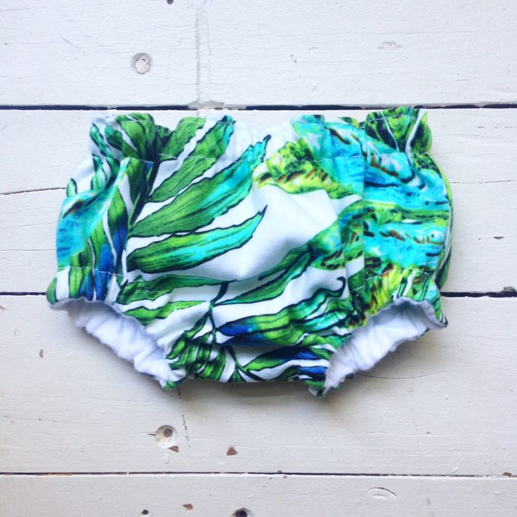 Tropical Palm Leaf Baby Bloomers, Nappy Cover, Diaper Cover, Unisex Baby Clothes, Green, Fern, Nature, Trendy Baby Clothes, Hipster Baby by HopscotchBabyAU on Etsy https://www.etsy.com/listing/258784724/tropical-palm-leaf-baby-bloomers-nappy
