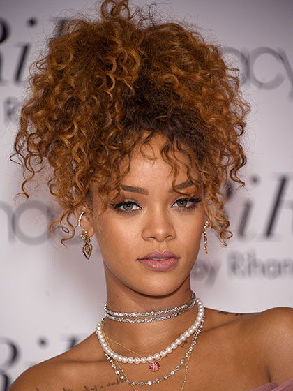 51 New Hair Ideas: Rihanna's curly high ponytail | allure.com