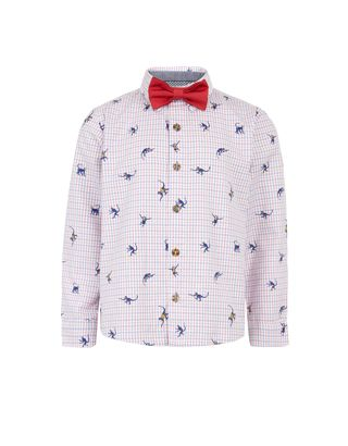 Marco Monkey Check Shirt and Bow Tie