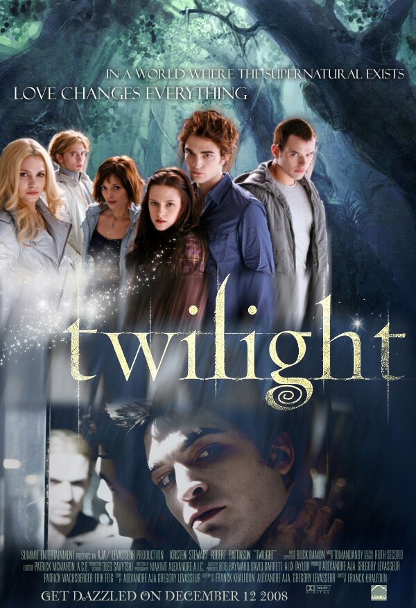 Twilight- I read all the books. It is pretty much the last series I