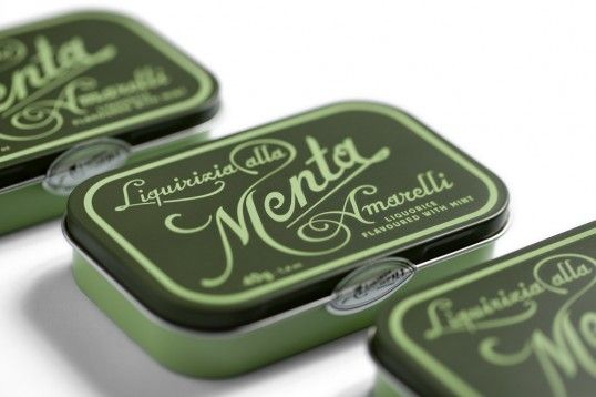 Amarelli tins by Angelini Design