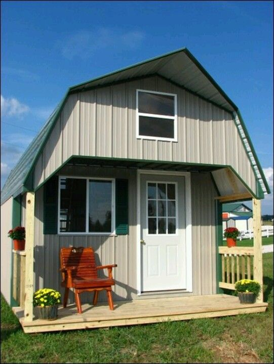 turn a shed into a home future pinterest tiny houses house and cabin. Black Bedroom Furniture Sets. Home Design Ideas