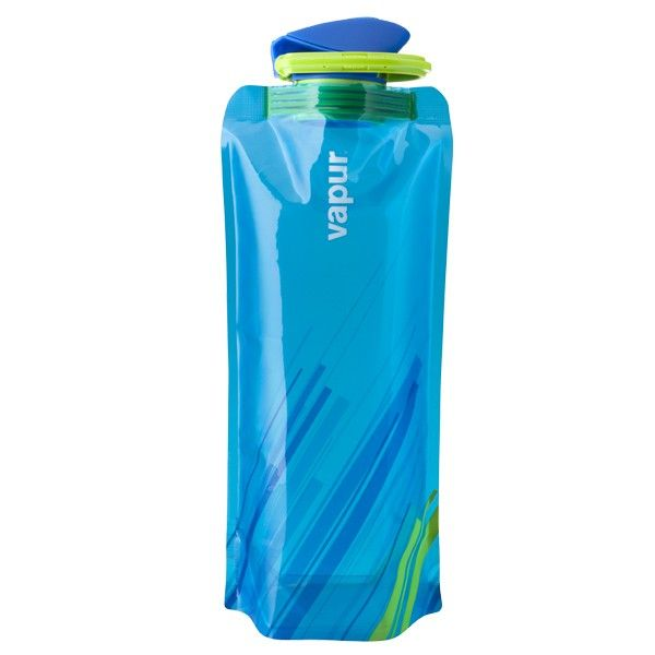 Foldable, reusable water bottle from Element. Perfect for situations when you don't want to lug a water bottle around. Fits into a pocket or purse.