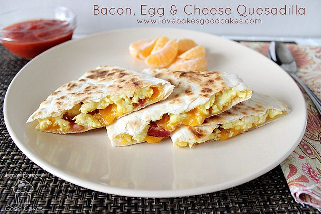 ... Egg Amp, Eggs, Food, Bacon Egg, Cheese Quesadillas, Breakfast Recipes
