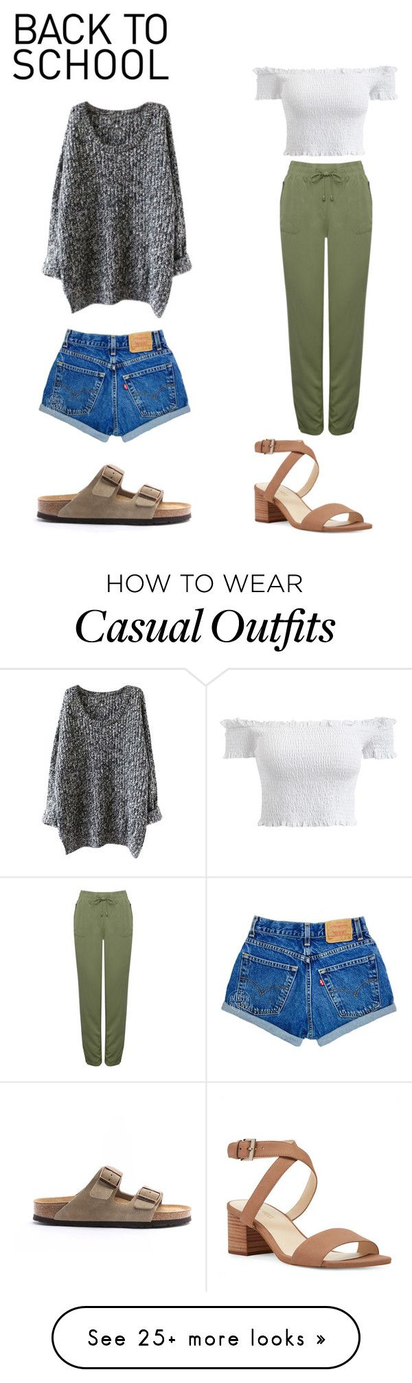"""""""casual and sorta casual"""" by deboerevelyn on Polyvore featuring Birkenstock, M&Co and Nine West"""