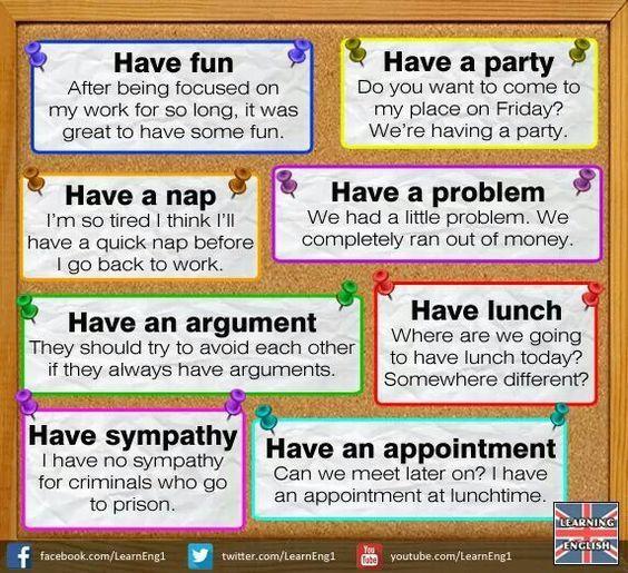Forum   ________ English Grammar   Fluent LandPhrasal Verbs with HAVE   Fluent Land