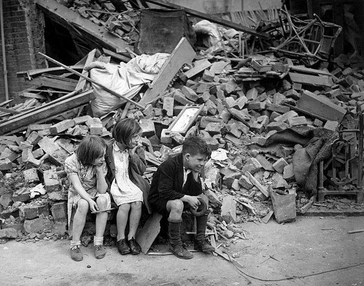 Children made homeless during the blitz - East London