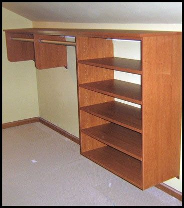 Angled Wall Storage Closet Angled Ceiling Unit California Closets Bedroom Furniture Ideas