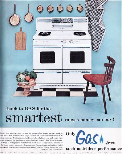 1954 American Gas Assn. Ad - Baby Blue by American Vintage Home, via Flickr