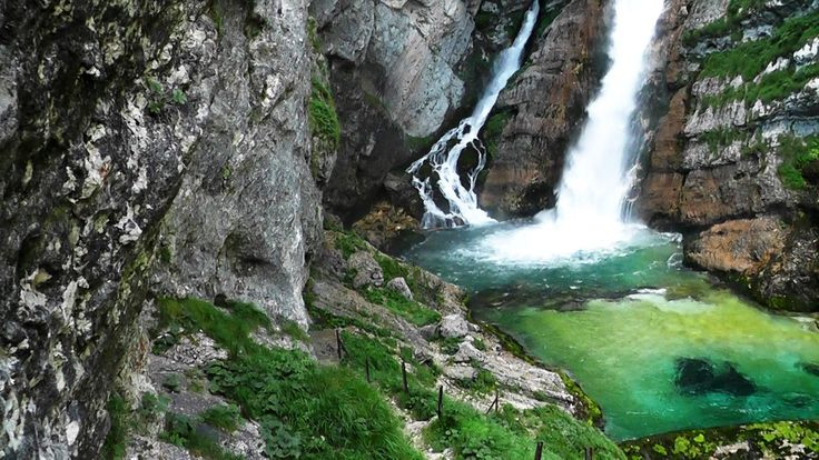 Remembering my beautiful home country Slovenia.. This is a waterfall near our most gorgeous lake (with island and church in the middle of it) Bled. :) Nature at its best! http://ift.tt/1MK77aQ