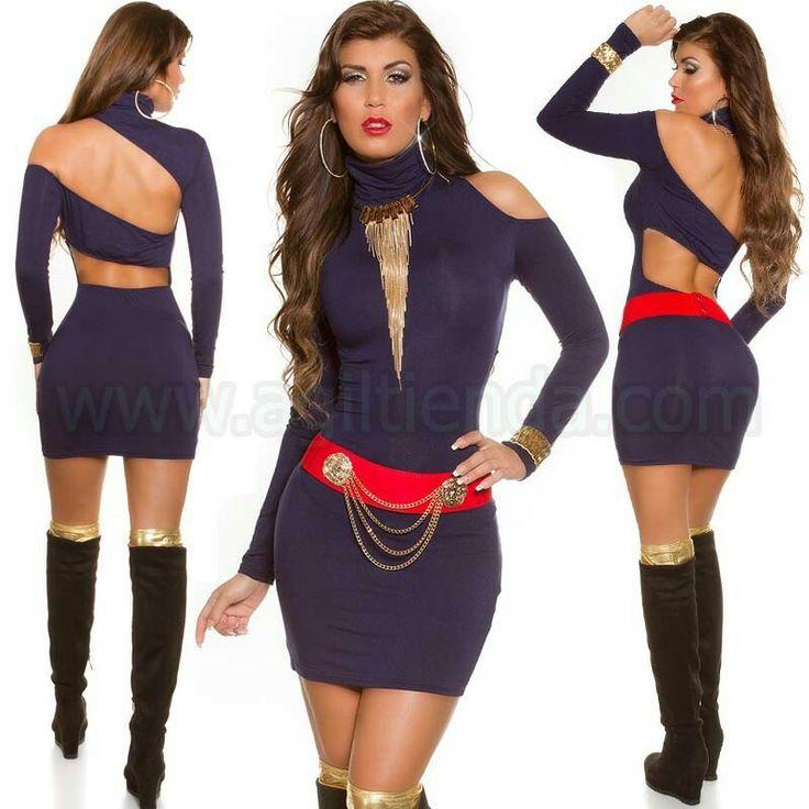 #Sexy #vestido de #mangalarga #diseño #ceñido al #cuerpo con #tejido #elastico que #destaca tu #figura, #cuellocisne y #exclusivo #escote en la #espalda para #brillar con #efecto #chic y #sensual en tus #fiestas y @eventos. @Vestido #corto en @colores #llamativos para #deslumbrar. Encuentralo en #Venta de #Vestidos http://www.agiltienda.com/es/home/2304-vestido-cuello-cisne-escotado.html #online @shop @agiltienda.es