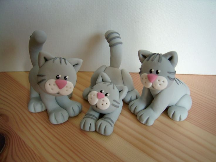 Chats p te polym re fimo polymer clay myriam lakraa - Personnage en pate fimo ...