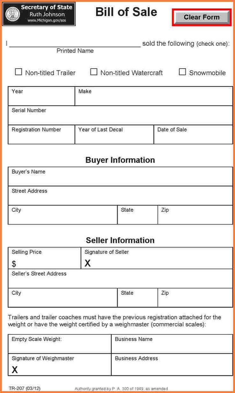 Bill of Sale Template Maine Bill of sale template