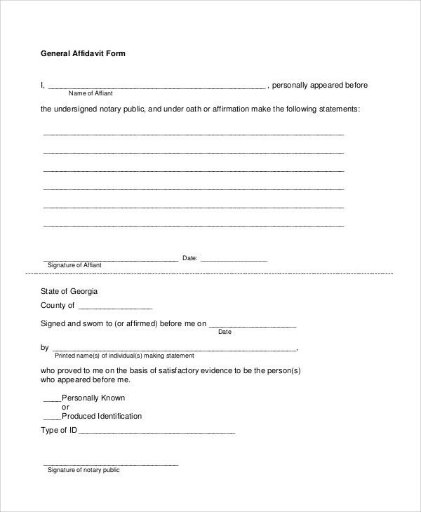 Sample blank affidavit form 6 documents in pdf Sample Templates #SampleResume #GeneralAffidavitForm
