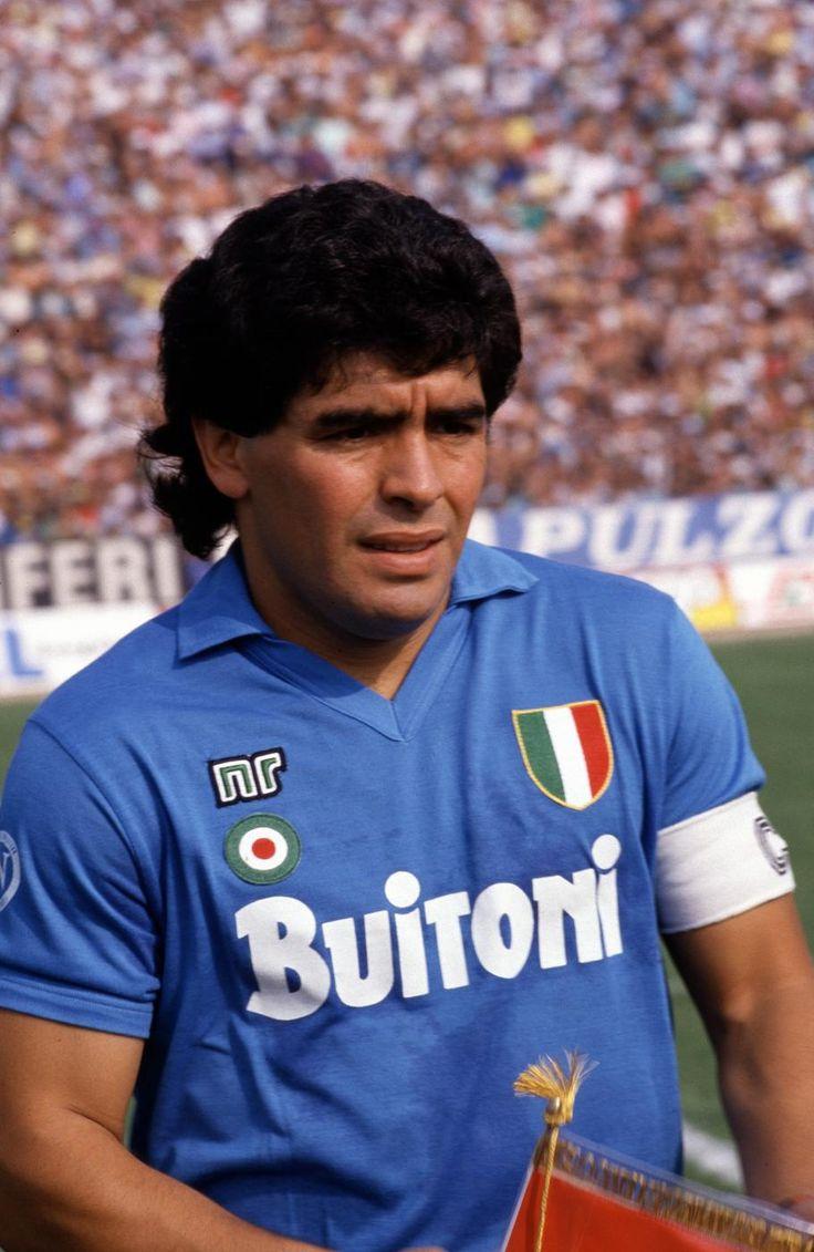 Diego #Maradona captain of #Napoli