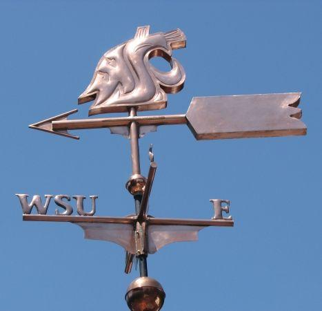 Washington State University Cougar Logo Weathervane by West Coast Weather Vanes.