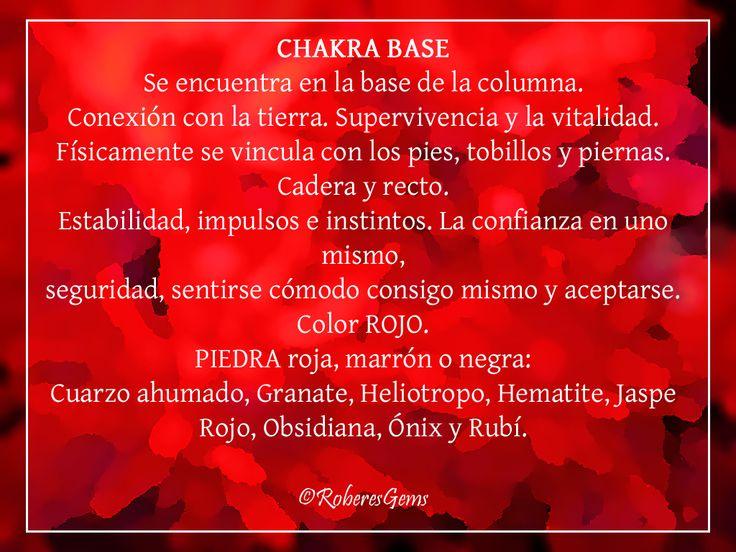 Chakra Base. Color Rojo.