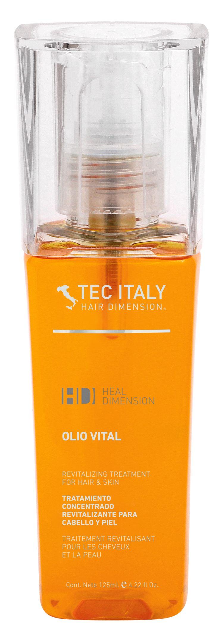 OLIO VITAL: Concentrado exclusivo  de aceites esenciales,  los  cuales ayudan   a  proteger y restituir naturalmente las propiedades del cabello,  aportando la fuerza  y vitalidad perdida, manteniendo su belleza  natural, con una  textura ligera  y sedosa.