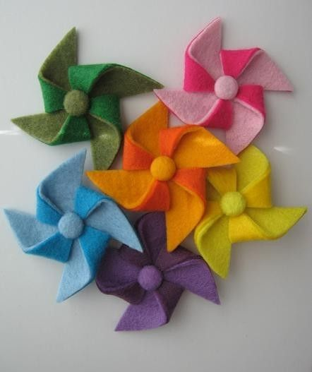 felt pinwheels.  Can't wait to try this with some PTI felt