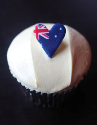 Australia love #Ghermez cupcakes
