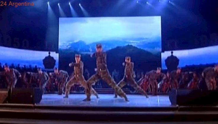 El insólito video de propaganda de Corea del Norte con soldados bailando una coreo