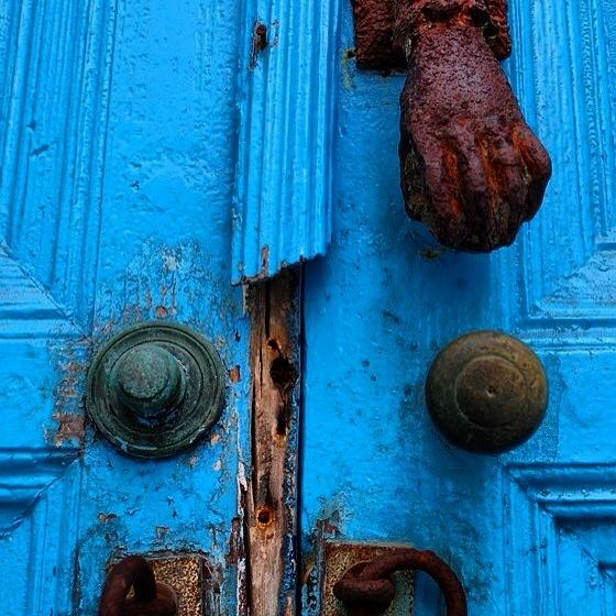 Mykonos blue door