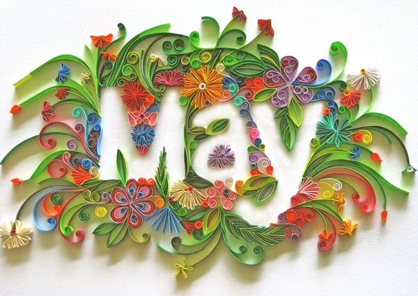 Magazine Illustration for May: Paper Quilling, Superb Typography, Paper Art, Paperart, Quilling Art, Quilling Ideas, Quilling Typography, Magazines Illustrations, Paper Typography