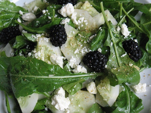 Blackberry and Cucumber Salad with Fennel Pollen