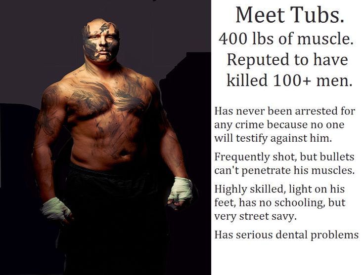 Tubs Is 7 Foot 400 Lbs Of Muscle Hes Reputed To Have