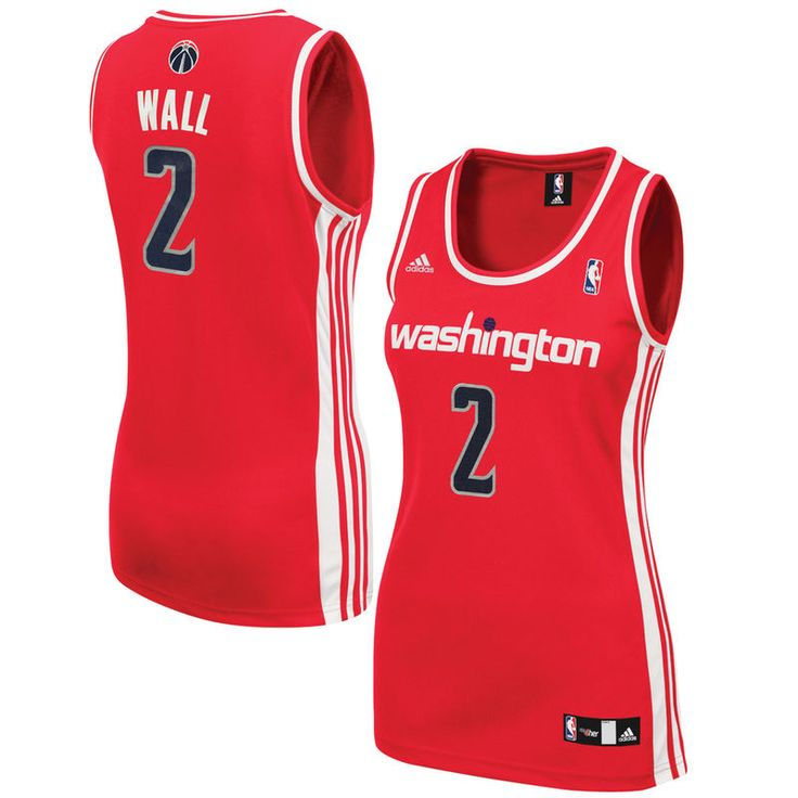 ace4f4cdc86 ... John Wall Washington Wizards adidas Womens Road Replica Jersey - Red ...