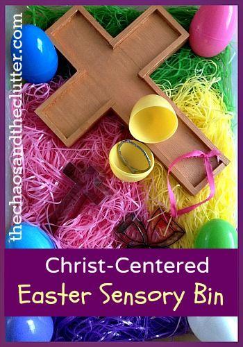 Christ centered Easter Sensory Bin