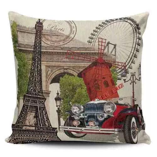 Cojin Decorativo Tayrona Store Paris Vintage - $ 43.900