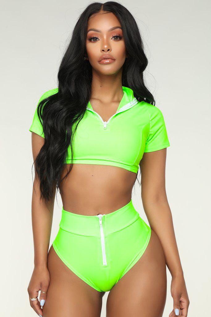 8587d8ea2863c Water Sports Bikini - Neon Green in 2019