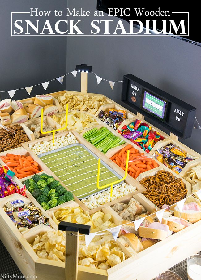 How to Make an Epic Reusable Snack Stadium with Wood #GameDayGlory (ad)